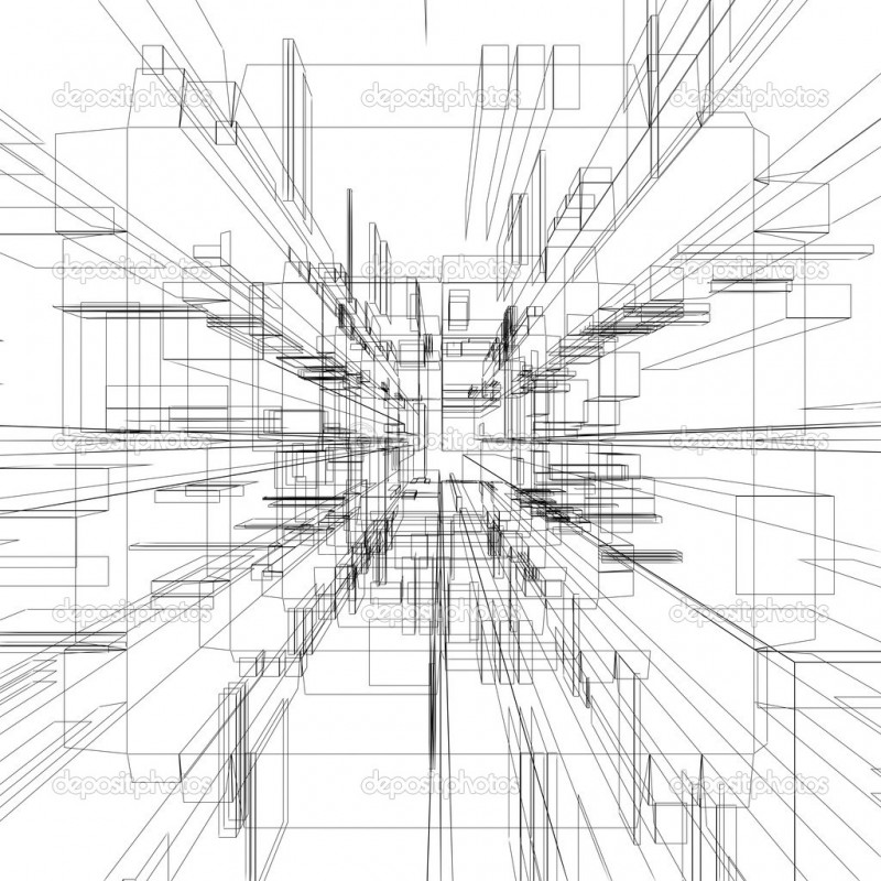 Abstract wireframe